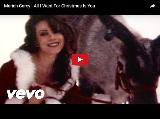 Mariah Carey Canzone Di Natale.Canzoni Di Natale Mariah Carey All I Want For Christmas Is