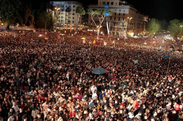 Clementino, il primo maggio piazza San Giovanni se ne deve cadere