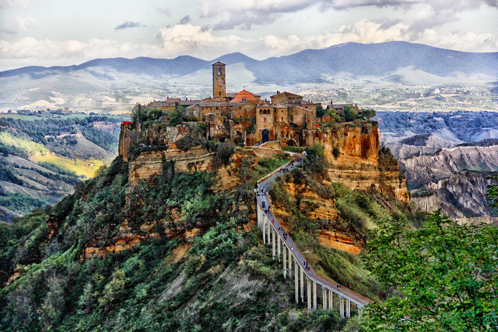 Civita Di Bagnoregio Borgo Italiano Eccellenza Unesco Nel